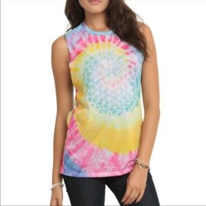 Bravado Tie Dye Graphic Top Size XXL